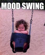little girl having a mood swing