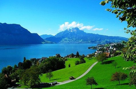 If we focus only on the tree in the foreground, we miss the medieval architecture in town and Lake Lucerne!